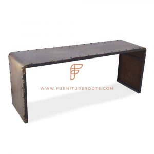Rustic Metal Outdoor Table