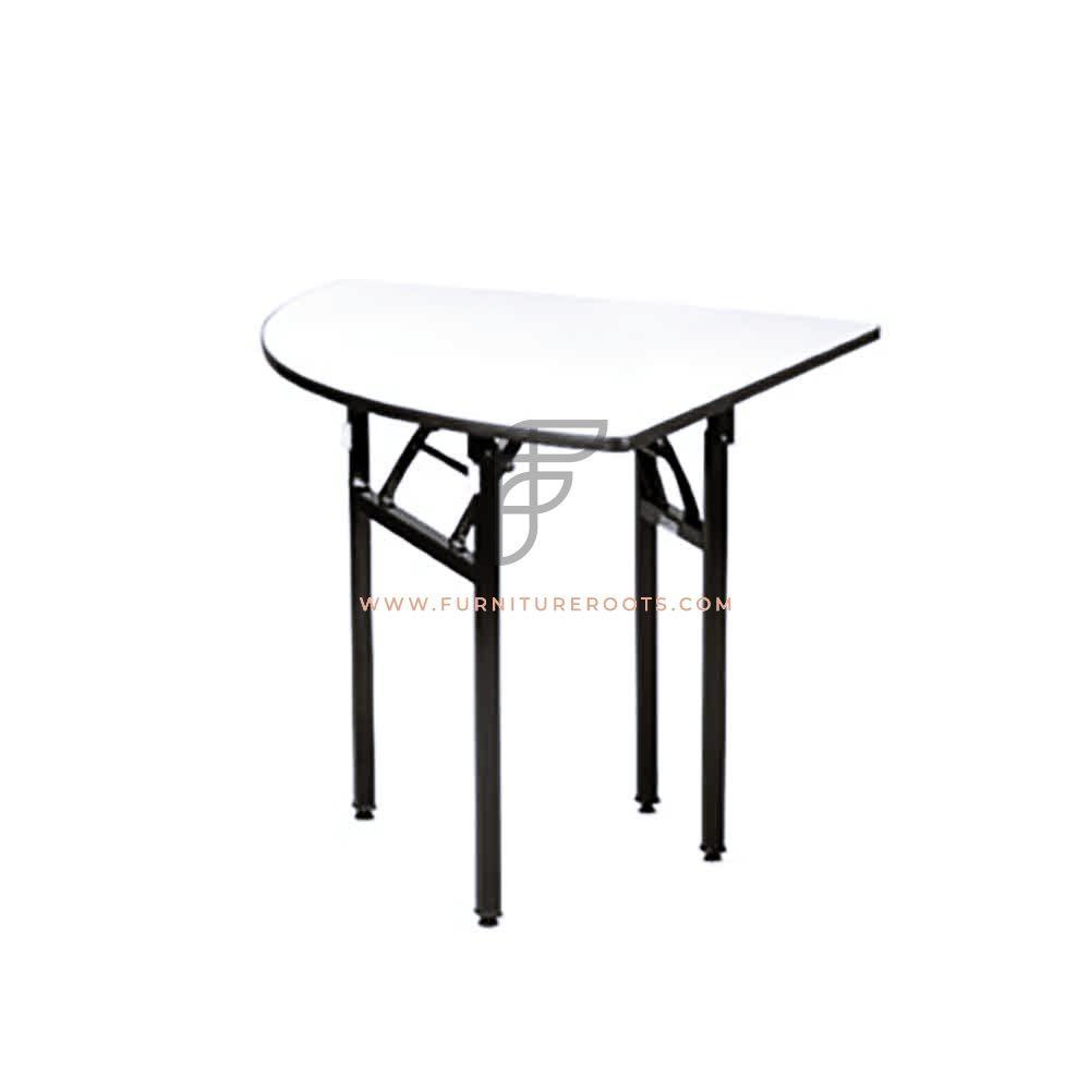 FR Banquet Tables Series Heavy Duty Triangular Grey Plywood Top Folding Table