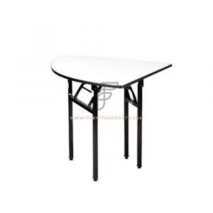 Triangular Grey Plywood Top Folding Table