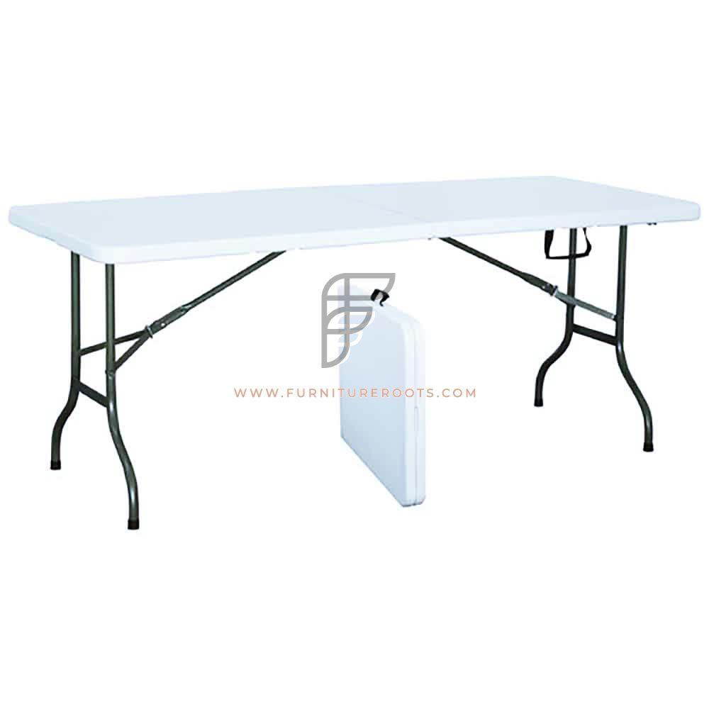"""Rectangular Grey HDPE Top Folding Table Size 72"""" x 30"""""""