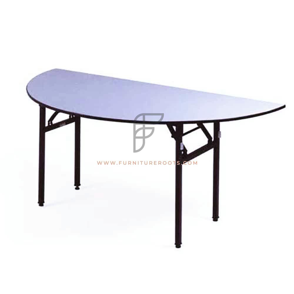 FR Banquet Tables Series Heavy Duty Half Round Granite White Top Folding Table in Custom Sizes
