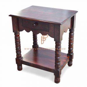 darkwood side table for resorts