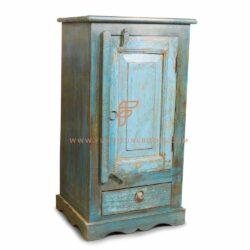 blue paint distressed almirah