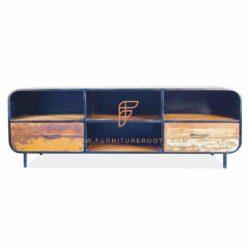 metalen tv-meubels in donkere afwerking