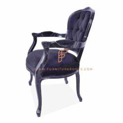 modern victorian style black armchair for restaurants