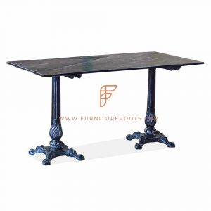 black marble top cafe table