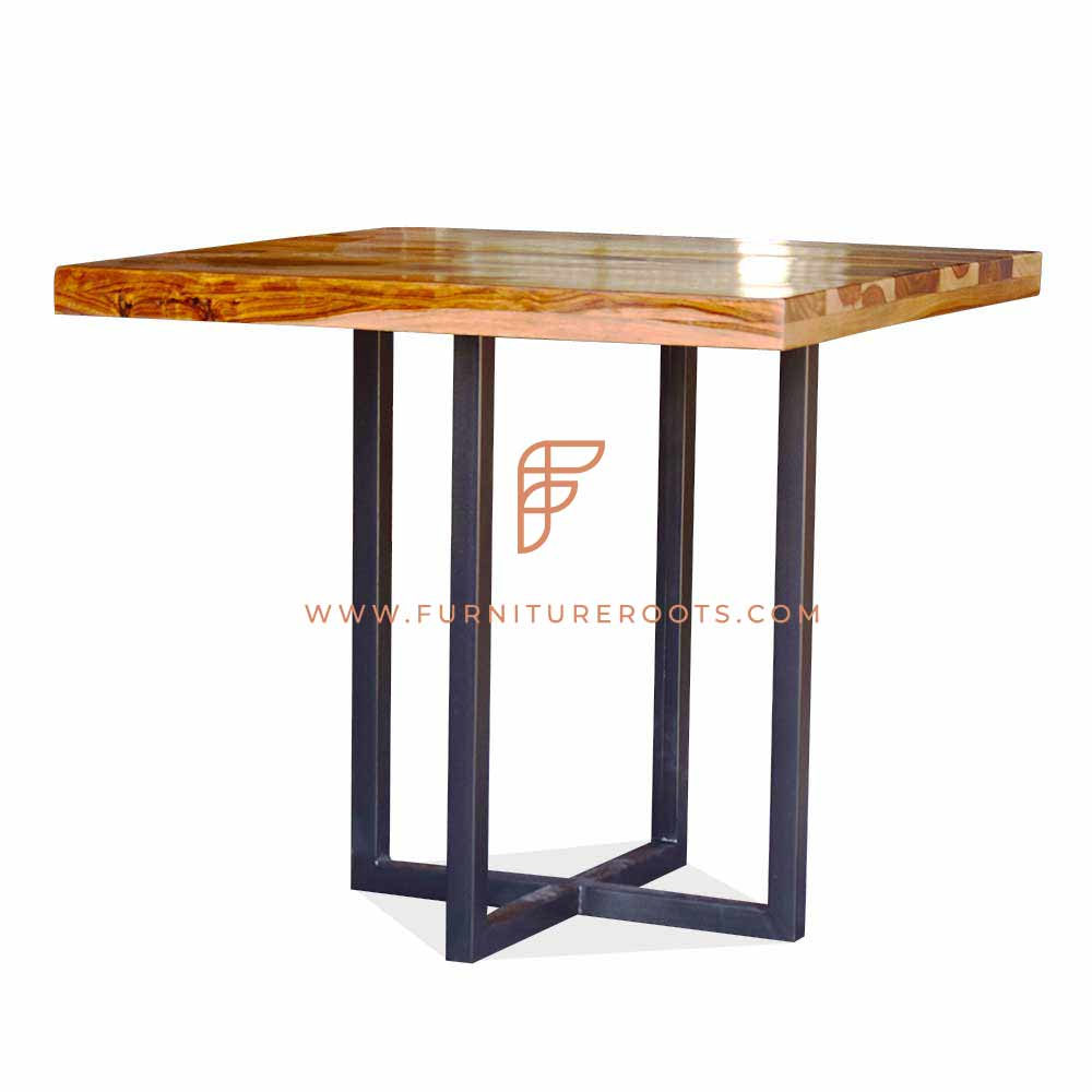 fine dining restaurant table with wishbone table base
