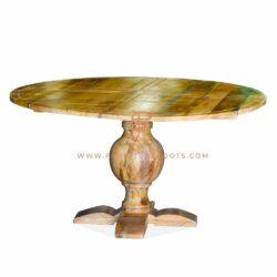 table à manger ronde en bois d'ingénierie