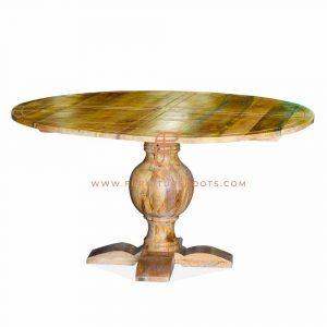 engineered wood round dining table