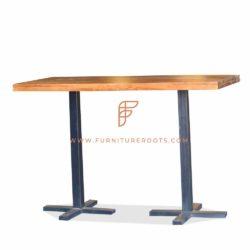 wooden bar height restaurant table