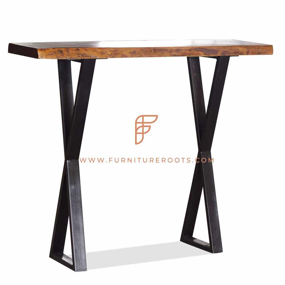 Bar height (42 inch) commercial dining table with X table base