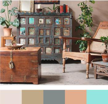 Tavolozza dei colori mobili indiani