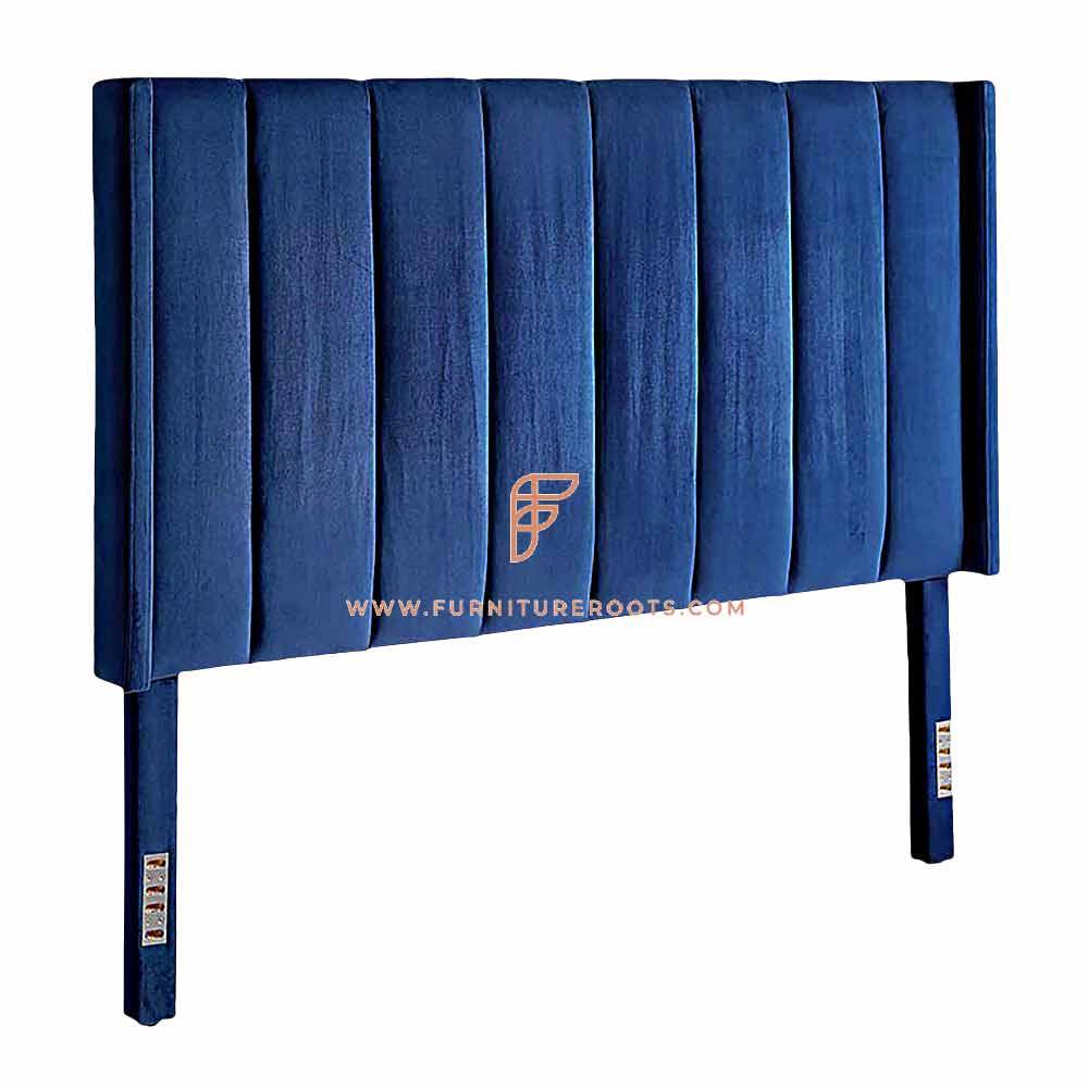 FR Headboard Series Channel Tufted Velvet Fully Upholstered Headboard