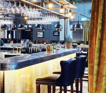 industrial (steampunk) restaurant seating set-up