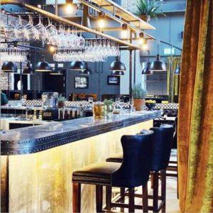 Banquetas de bar de restaurante industrial