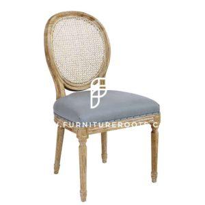 Обеденный стул в стиле барокко с тростниковой спинкой
