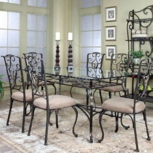 dining room, rustic style decor dining set