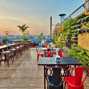 furniture arrangement at the rooftop/terrace