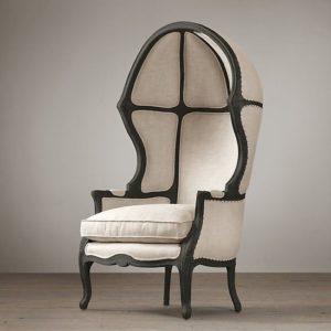 louis xvi baloon chair in plain background