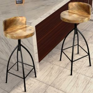rustic & farmhouse wood barstool