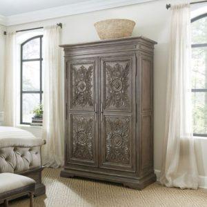 hotel wardrobe in dark artisnal casewood style