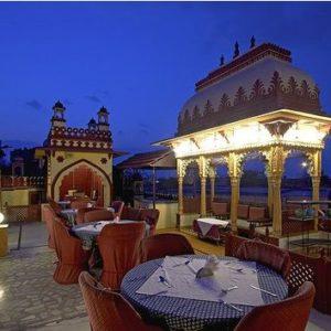 rooftop patio seating in Jaipur