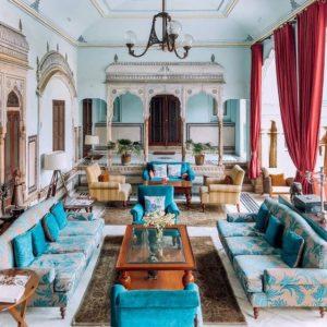 coastal themed lobby resort in Jaipur