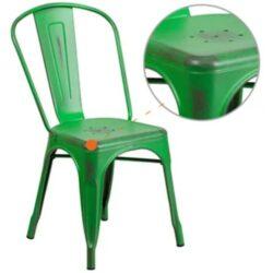 Green Distress Barstool