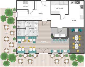 outdoor restaurants and patio floor plans
