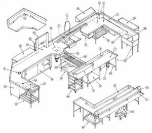 kitchen area of restaurant diagram
