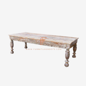 hand carved & distressed Indian Design coffee table