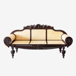 carved maharaja sofa with cushioning