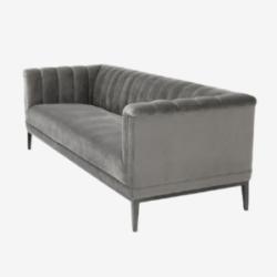 3 seater velvet sofa in modern style