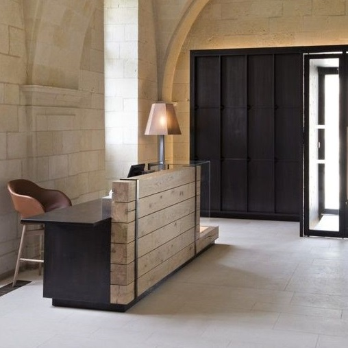 wooden reception desk Hotel Furniture fit-out project in north India