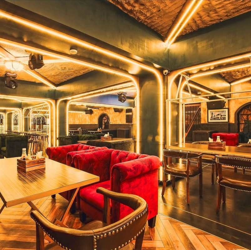 Vault Cafe - furniture set up project by FurnitureRoots in India