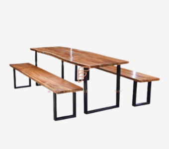 solid wood benches for restaurants