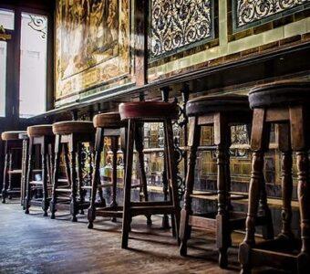 distressed vintage American pub interiors