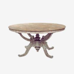 vintage rustic coffee table in curved wood