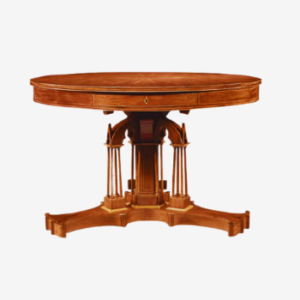 revival drum reproduction table in solid wood