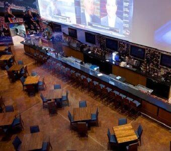 lareg sports pub with 12 dining sets