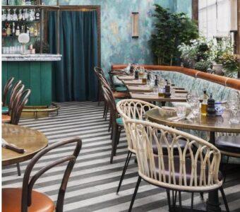 modern restro restaurant interiors with premium furniture