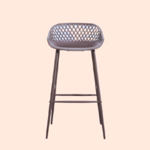 steel frame outdoor-grade barstool