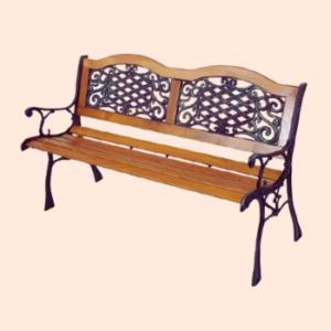 outdoor garden bench in cast iron