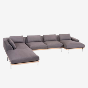 steel frame large sectional sofa with chaise