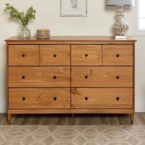 cómoda de madera de teca maciza