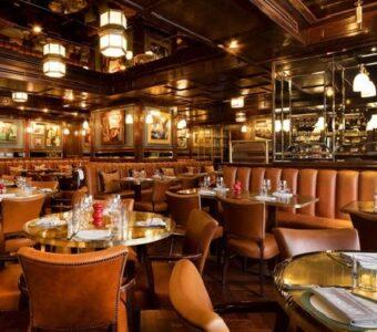 fine dining italian restaurant with dim lighting