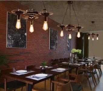 artificial vintage restaurant lighting