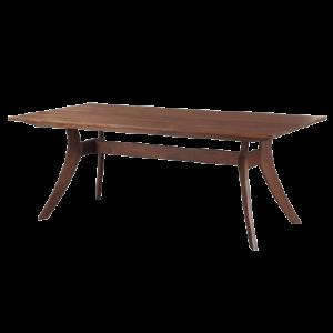 mid-century wooden table for designer restaurants