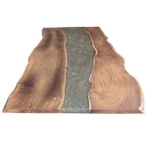 30 x 24 epoxy resin & wood tabletop