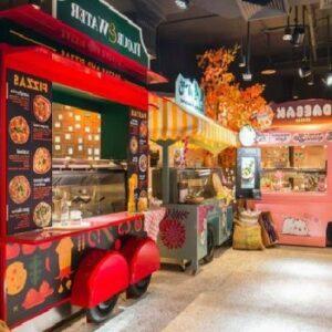 Food-truck styled restaurant interiors